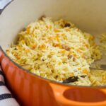 Cooked Carrot Rice in Pot