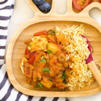 Chicken Curry for Kids in Toddler Plate
