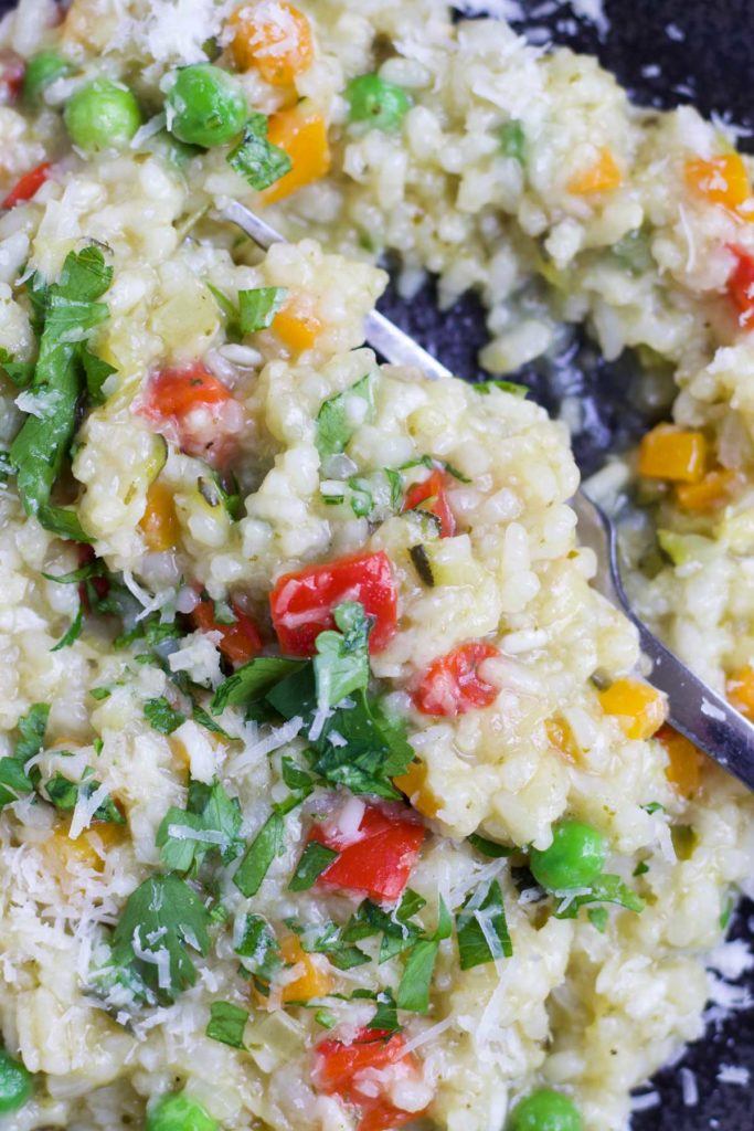 Close Up Shot of Slow Cooker Risotto