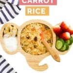 Spiced Carrot Rice Pinterest Pin