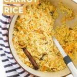 Carrot Rice Pinterest Pin