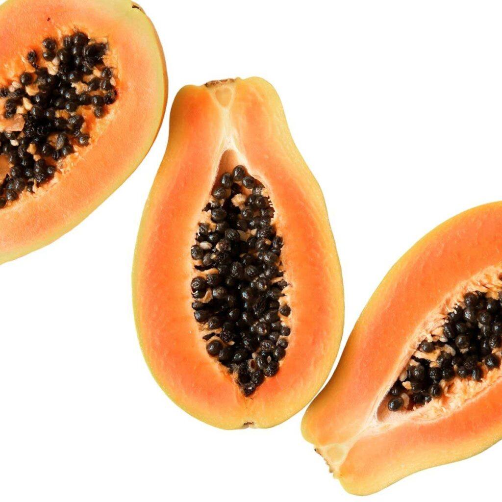 Papaya Cut In Half Lenthways