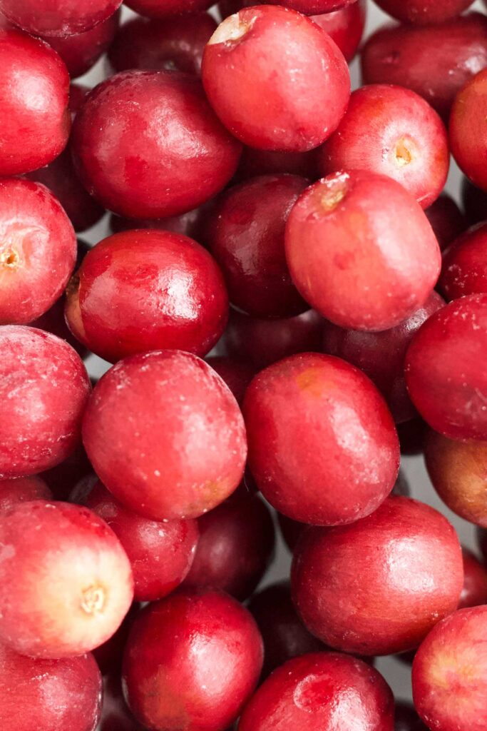 Close Up Shot of Frozen Grapes
