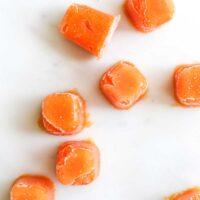 Frozen Cubes of Papaya Puree